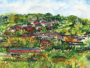 Stroud hill side greetings card (Alison)