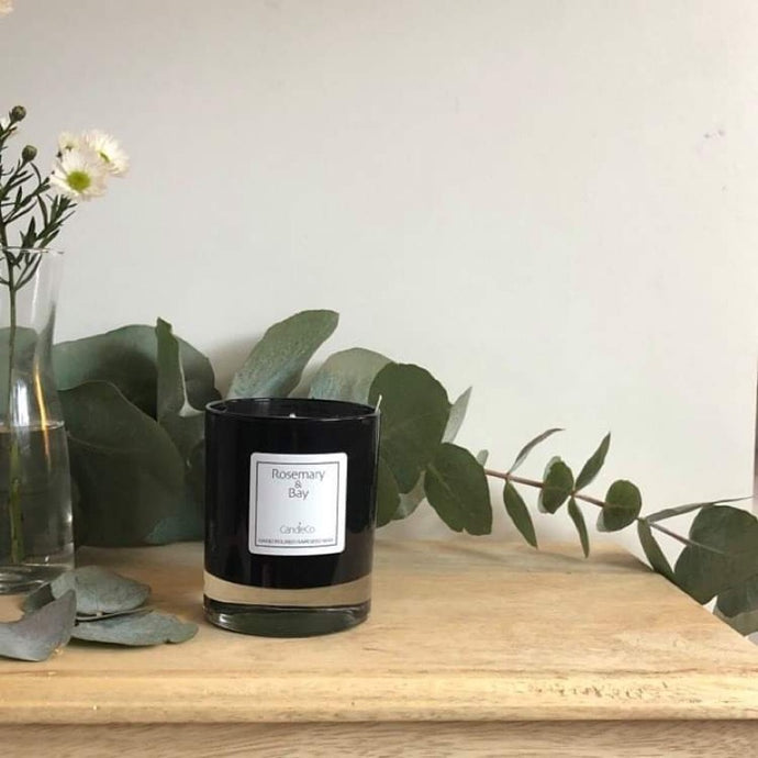 Rosemary and bay rapeseed wax candle (CandleCo)