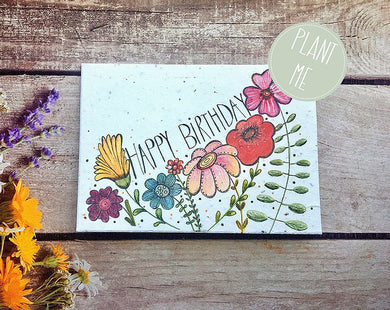 Plantable happy birthday greetings card (Erika)