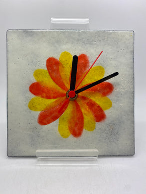 Hand enamelled clock (Jem 044)