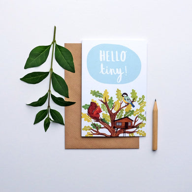 Hello tiny greetings card