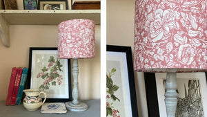 'Ivy Rose' Drum Shade in dusky pink (SH)