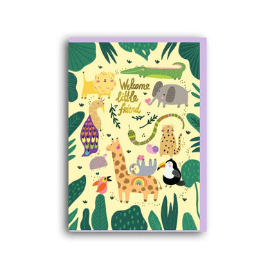 Welcome little friend greetings card (Anastassia)