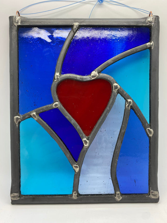 Large leaded heart panel.                                            LD