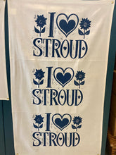Load image into Gallery viewer, I love Stroud tea towel (BLUE)