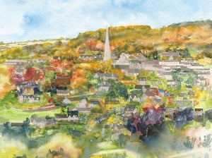 """Painswick from Wick Street"" greetings card"