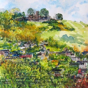 """Rodborough Fort - Spring Sun"" greetings card"
