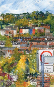 "Alison Vickery - ""Stroud across the valley"" Greetings card"