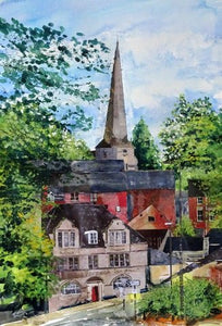 """Stroud looking up"" Greetings card"