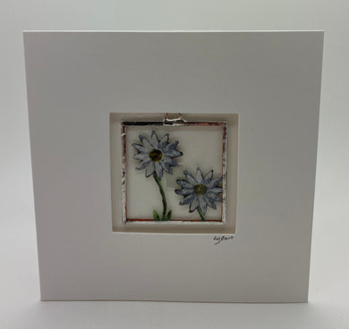 Daisy stained glass greetings card.                                   LD