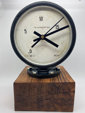 Pressure gauge clock (Copper lamp)