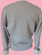 "Load image into Gallery viewer, ""Goddess"" organic cotton Melange grey unisex sweater (Maeve)"