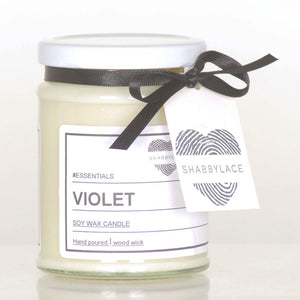 Violet soy wax scented candle (Shabby)