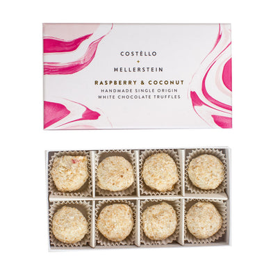Raspberry and coconut truffles (Costello)