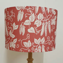 Load image into Gallery viewer, Peas in Red 30cm Drum Lampshade (Blue)