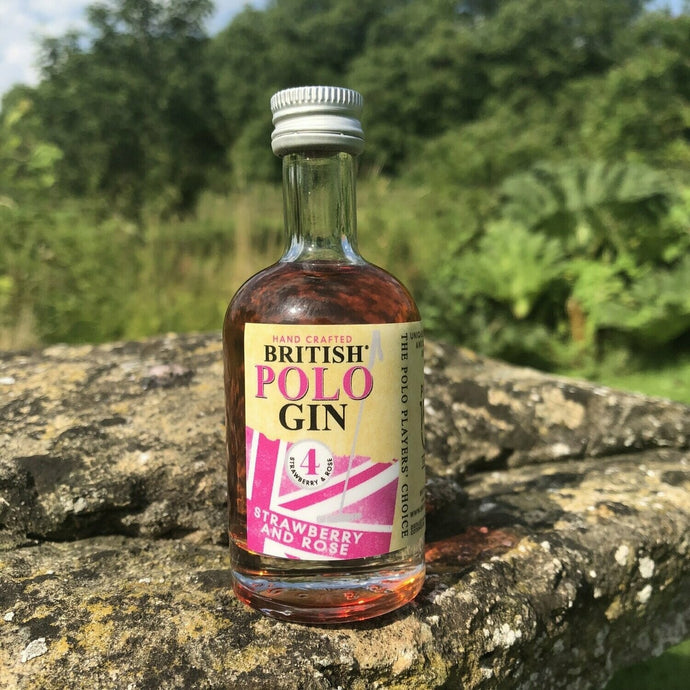 Strawberry and rose gin miniature 50ml (POLO)