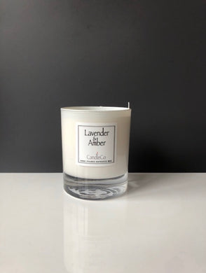 Lavender and Amber scented candle