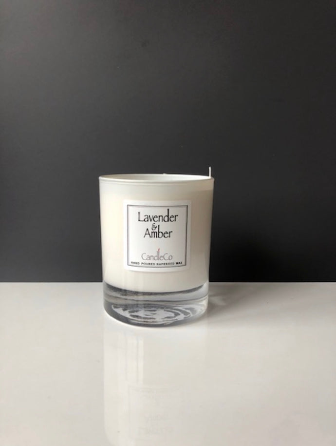 Lavender and Amber scented candle (CandleCo)