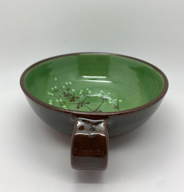 Floral bowl with handle (SVC)