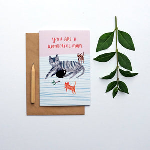 """You are a wonderful mum"" greetings card (STECO)"
