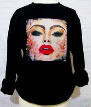 "Load image into Gallery viewer, ""#Selfie"" Black organic cotton sweatshirt (Maeve)"