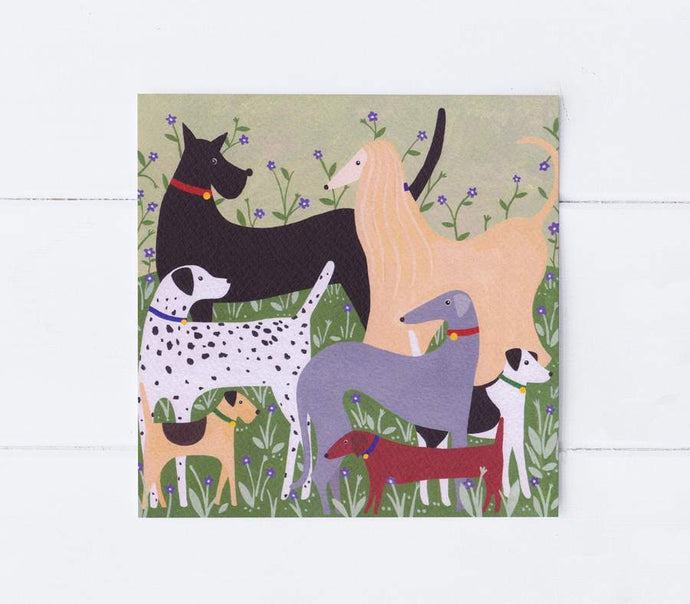 Dog meet greetings card
