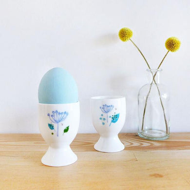 Blue parsley egg cups (CMT 111)