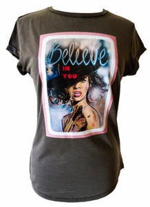 """Believe in you"" organic cotton T-shirt (Maeve)"