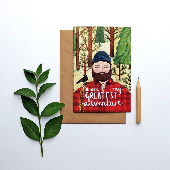 You are my greatest adventure greetings card