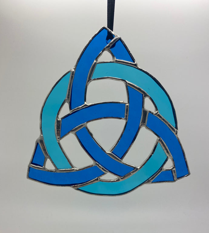 Celtic knot stained glass hanging (Glass)