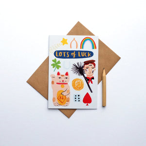 """Lots of luck"" greetings card (STECO)"