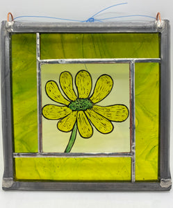Buttercup stained glass panel LD
