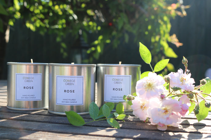 Rose scented candle                                                                 College Green