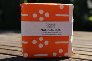 Lemongrass, ginger, oat and stroud brewery beer soap