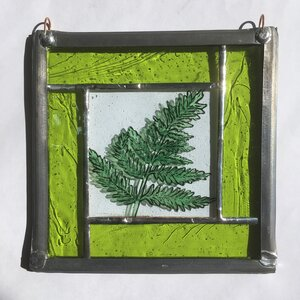 Stained glass Fern panel.                                              LD