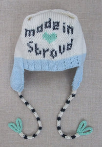 """Made in Stroud"" new born baby hat blue (HATS)"