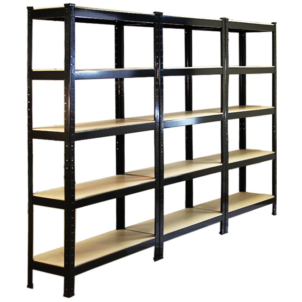 monster-racking-t-rax-heavy-duty-shelving-units-black-75cm-w-30cm-d-set-of-3 Techni-Pros - techni-pros