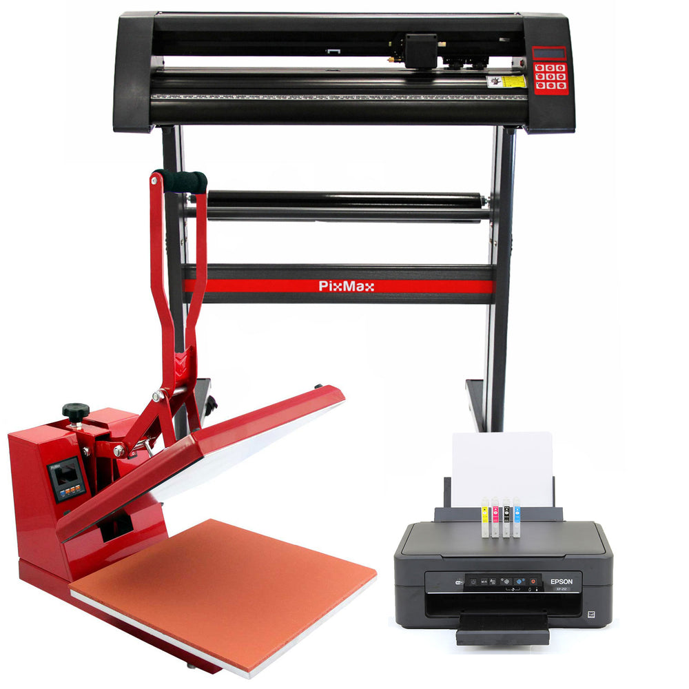 pixmax-38cm-clam-heat-press-vinyl-cutter-printer Techni-Pros - techni-pros