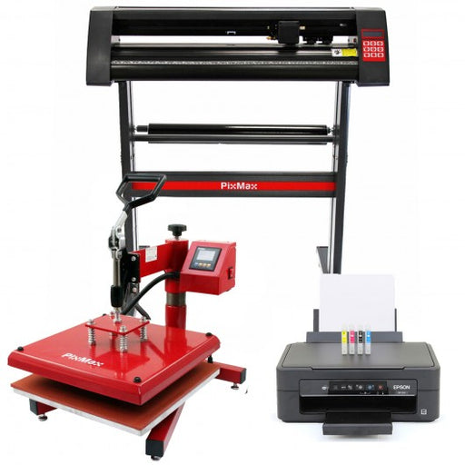 PixMax 38cm Swing Heat Press, Vinyl Cutter, Printer - techni-pros