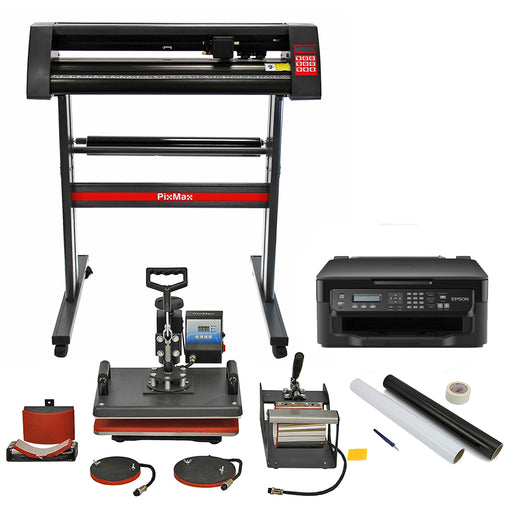 pixmax-5-in-1-heat-press-vinyl-cutter-printer-weeding-pack Techni-Pros - techni-pros