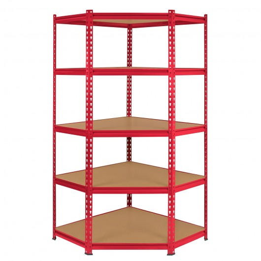 monster-racking-z-rax-corner-storage-shelf-unit-red-90cm-wide Techni-Pros - techni-pros