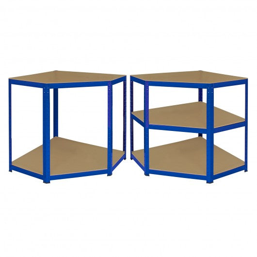 monster-racking-t-rax-corner-storage-shelf-unit-blue-90cm-wide Techni-Pros - techni-pros