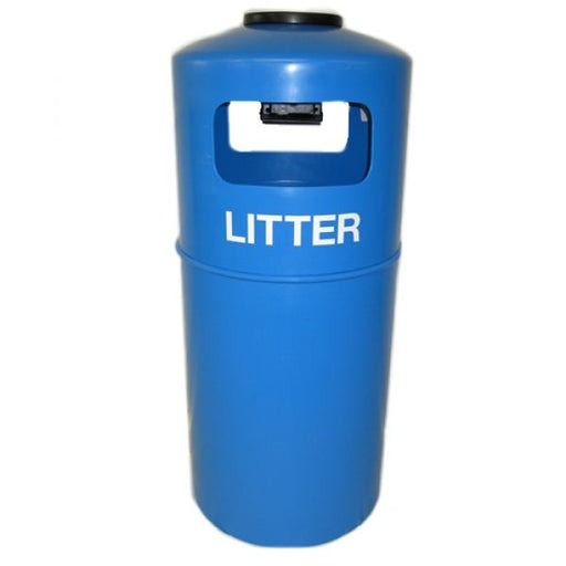 Hooded Top Litter Bin with Fitted Ashtray - 90 Litre Techni-Pros - techni-pros