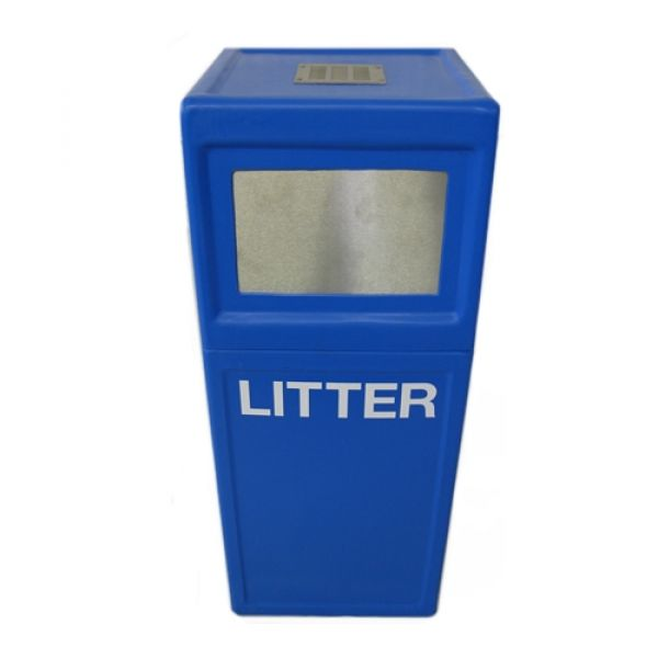 Square Pillar Bin with Stubber Plate - 30 Litre - Floor Standing or Wall Mounted Techni-Pros - techni-pros