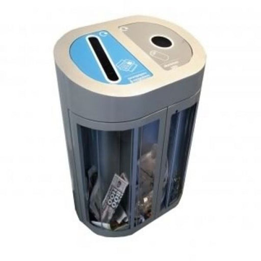 Torpedo Double Transparent Internal Recycling Bin - 120 Litre Techni Pros