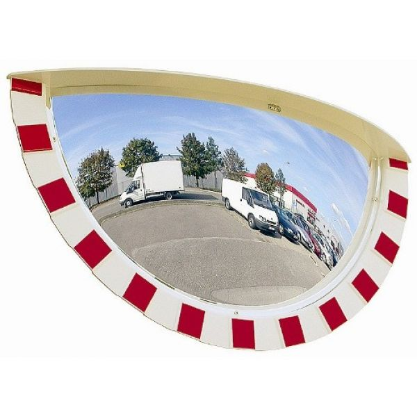 900 x 450mm Half Sphere Industrial Safety Mirror Techni-Pros - techni-pros