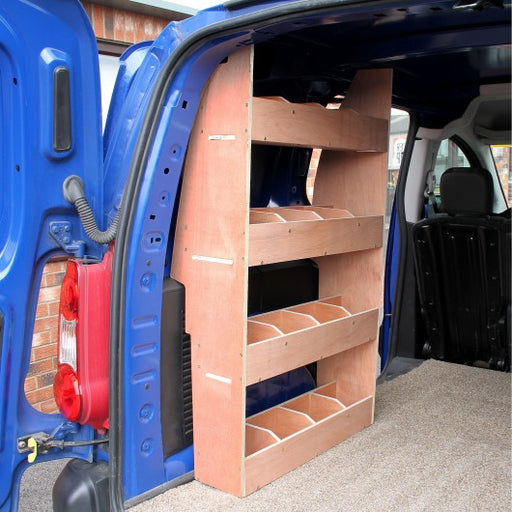 Peugeot Partner SWB Van Storage Plywood Shelves - techni-pros