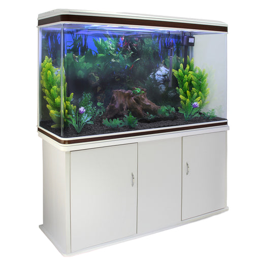 aquarium-fish-tank-cabinet-with-complete-starter-kit-white-tank-black-gravel Techni-Pros - techni-pros