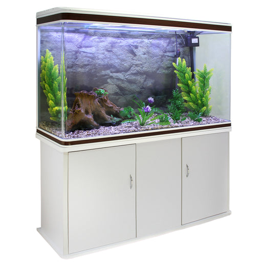 aquarium-fish-tank-cabinet-with-complete-starter-kit-white-tank-natural-gravel Techni-Pros - techni-pros