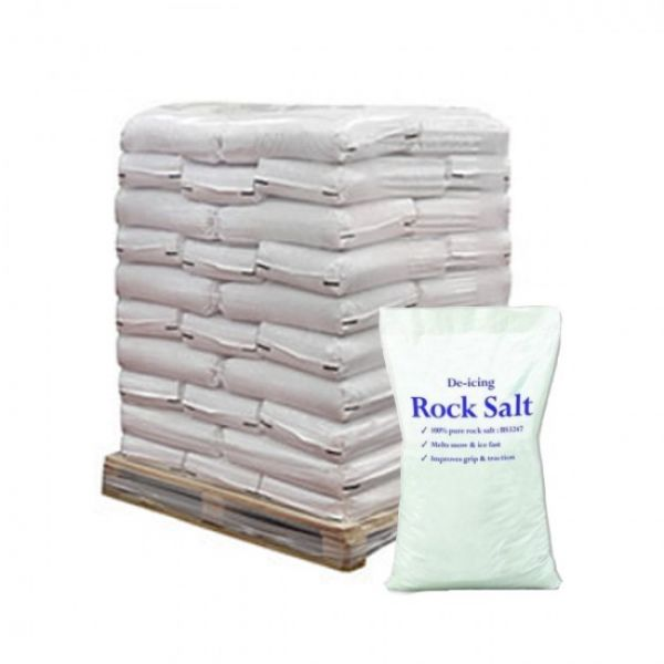 25 kg White De-icing Rock Salt x21 Bags - 525 kg Techni-Pros - techni-pros